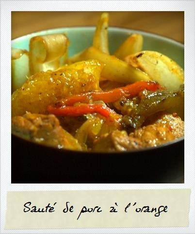 Sauté de porc à l'orange