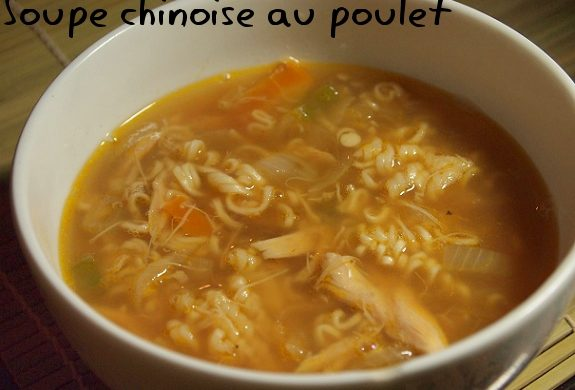 soupe chinoise poulet