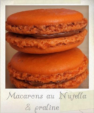 Macarons Nutella praline