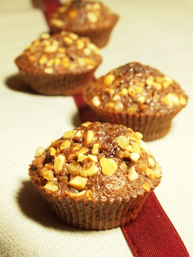 muffins chocolat praliné