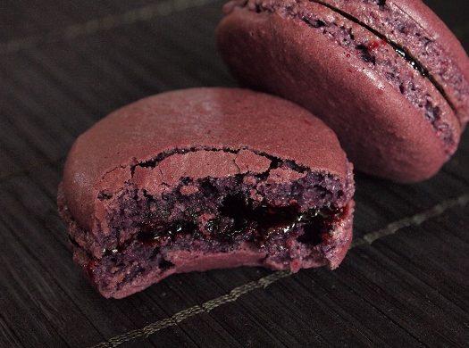 macarons myrtilles violette