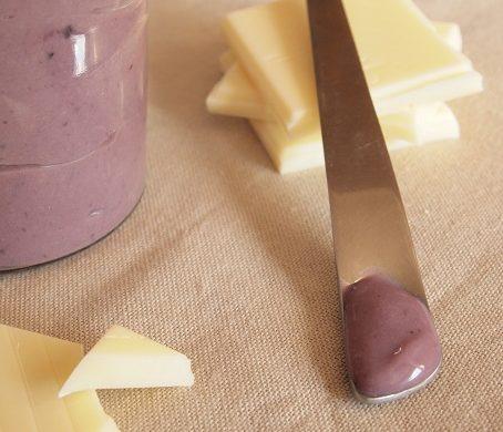 pâte chocolat blanc mure