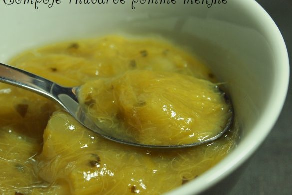 compote pomme rhubarbe menthe