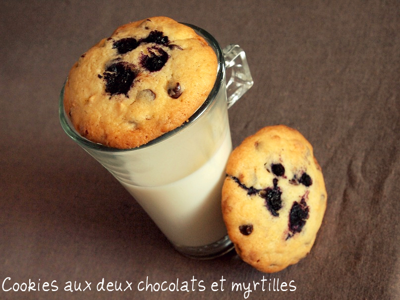 cookies chocolats myrtilles