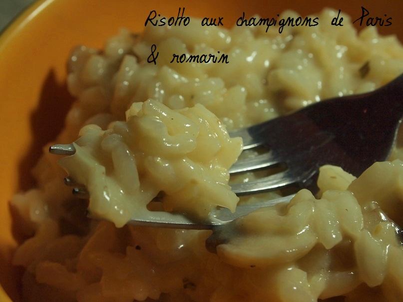 risotto champignons romarin