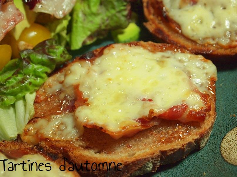 tartines figues brebis pancetta