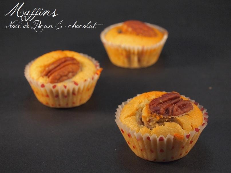 muffins noix de pecan chocolat