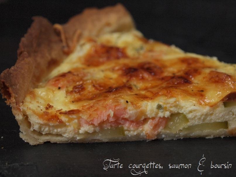 tarte courgette saumon boursin