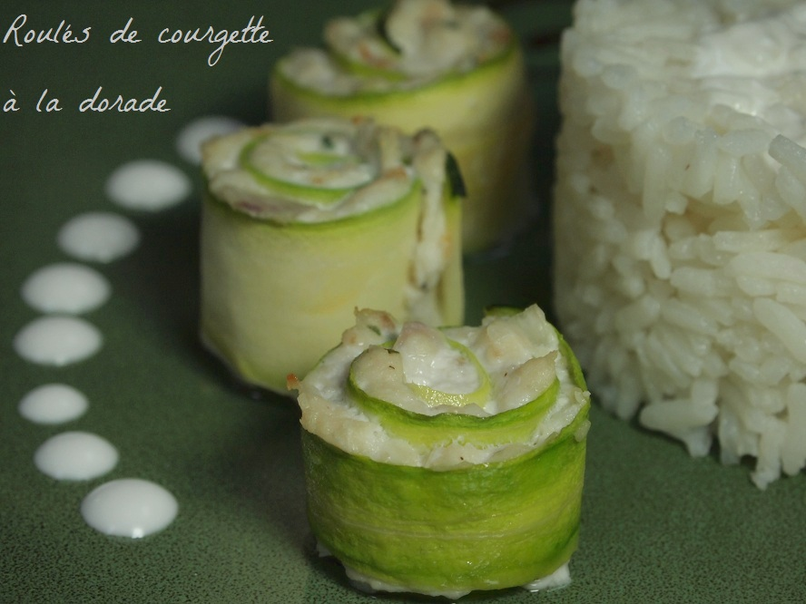 roule courgette dorade