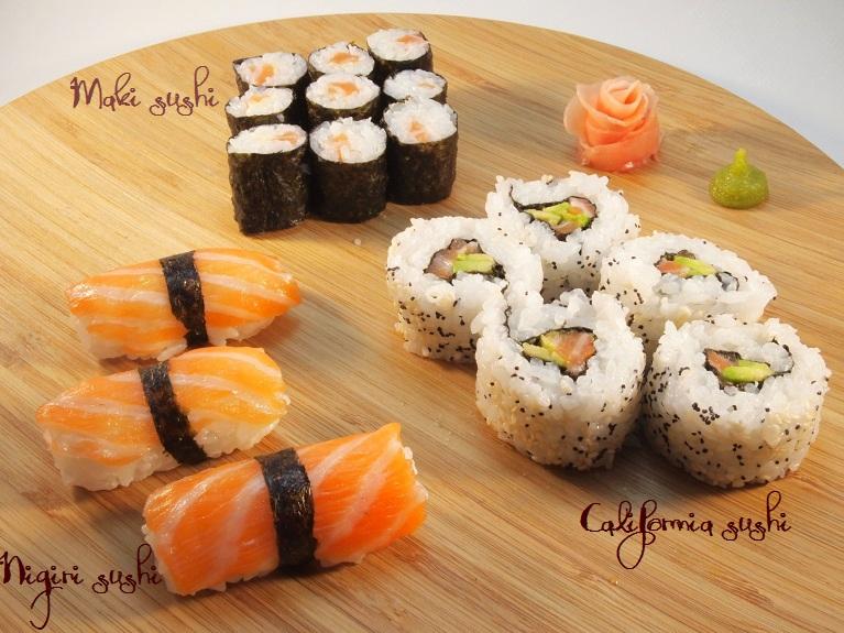 sushi nigiri california roll
