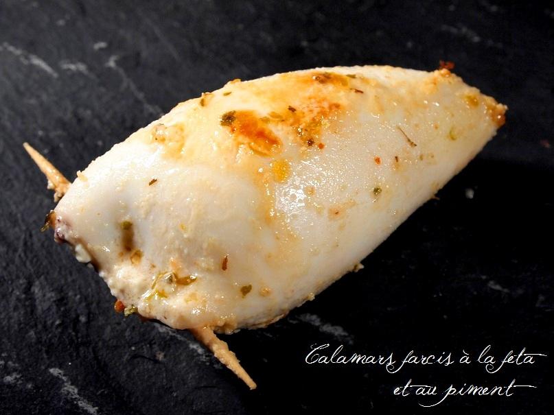 calamars farcis feta citron