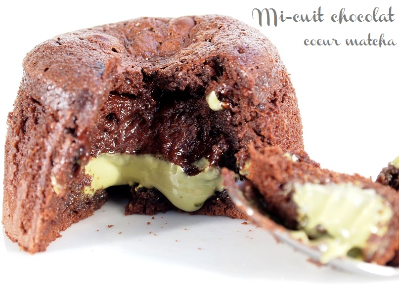 mi-cuit chocolat coeur matcha