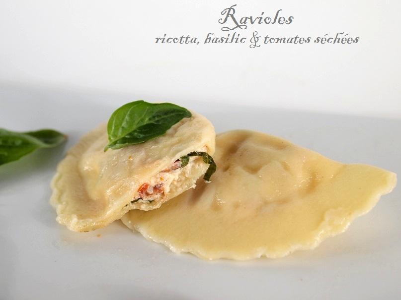 ravioles ricotta tomates sechees basilic