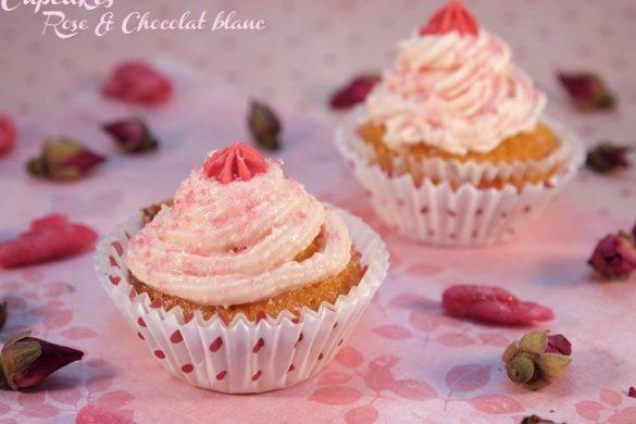 cupcakes rose chocolat blanc