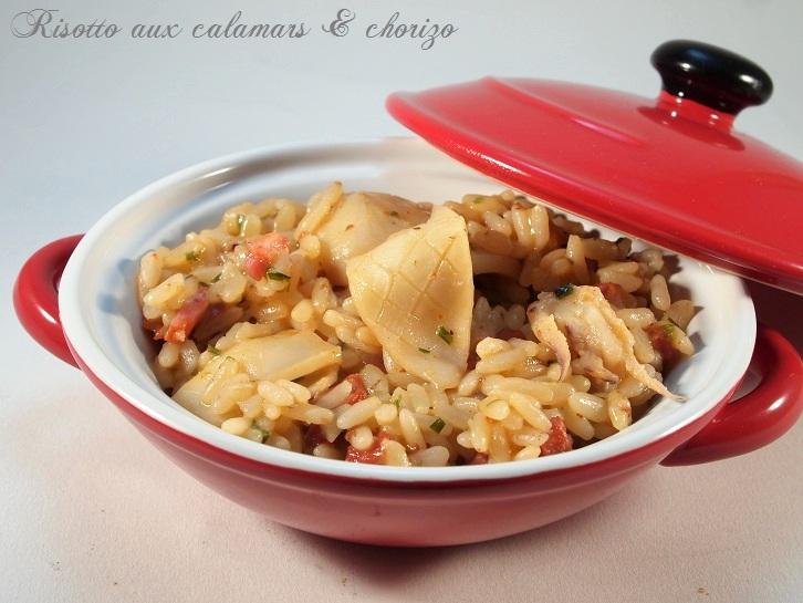 risotto calamars chorizo