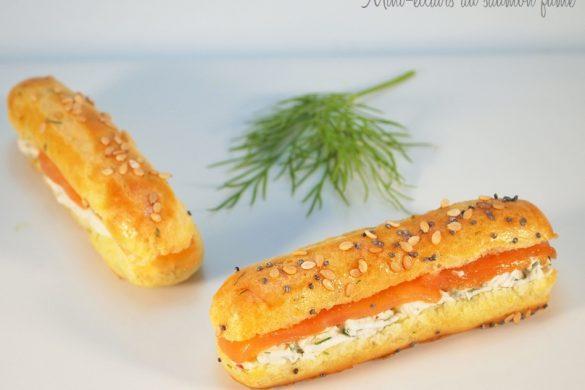 éclairs au saumon fumée