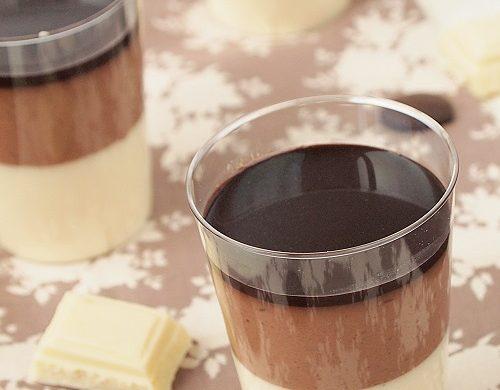 panna cotta chocolat