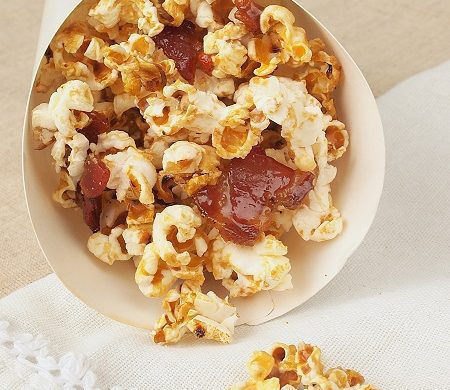 pop corn sirop d'érable bacon lard