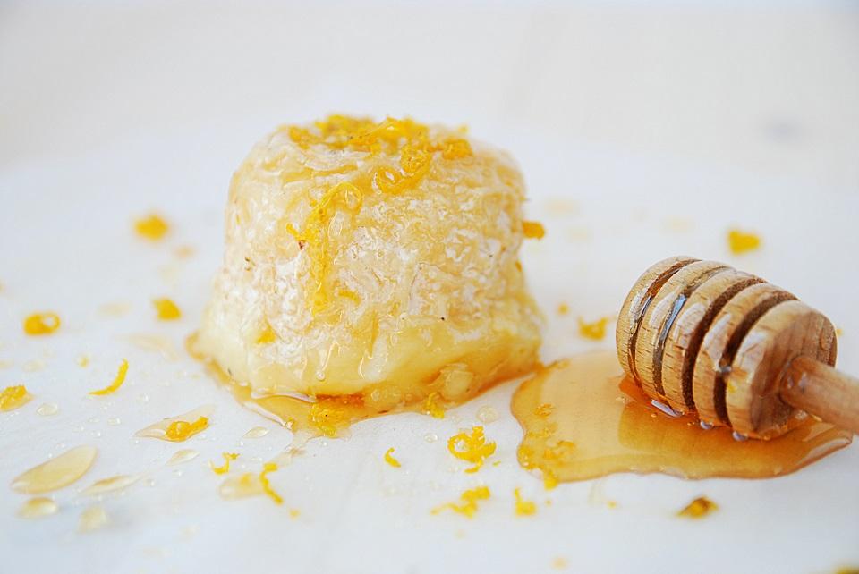 Crottin de chèvre rôti miel citron