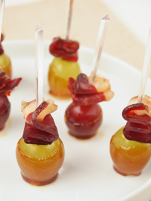 raisin caramélisé et magret