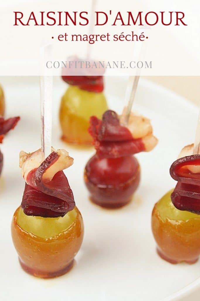 La recette d'apéritif pour l'automne parfaite, un raisin d'amour et magret