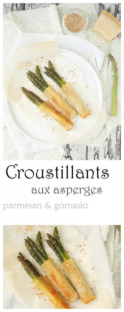 Croustillants aux asperges, parmesan & gomasio #asperges #entrée