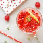limonade aux fruits rouges
