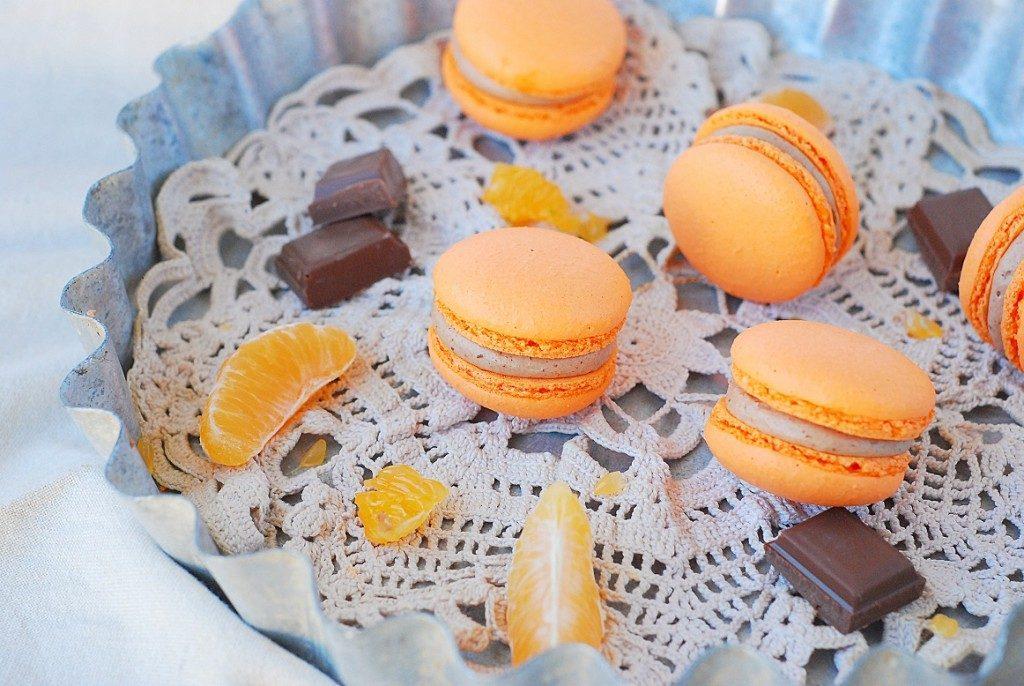 Macarons chocolat au lait et clémentine