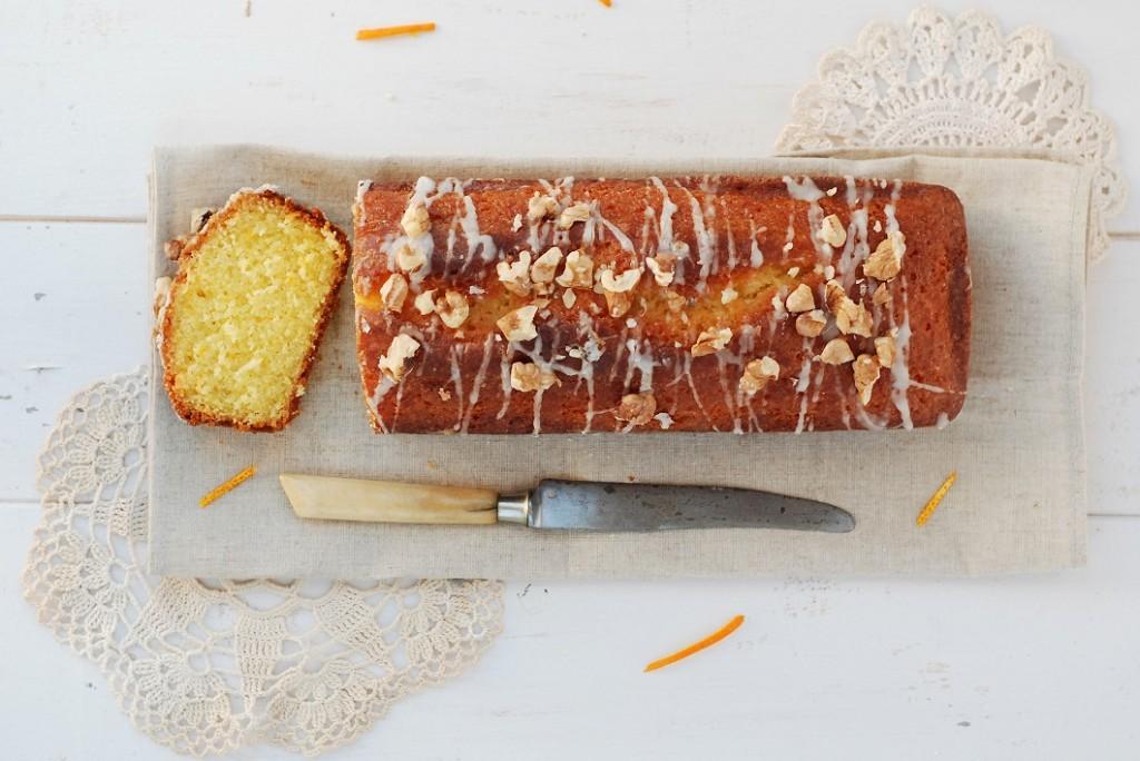 cake a l'orange et aux noix
