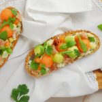 Tartine melon et avocat