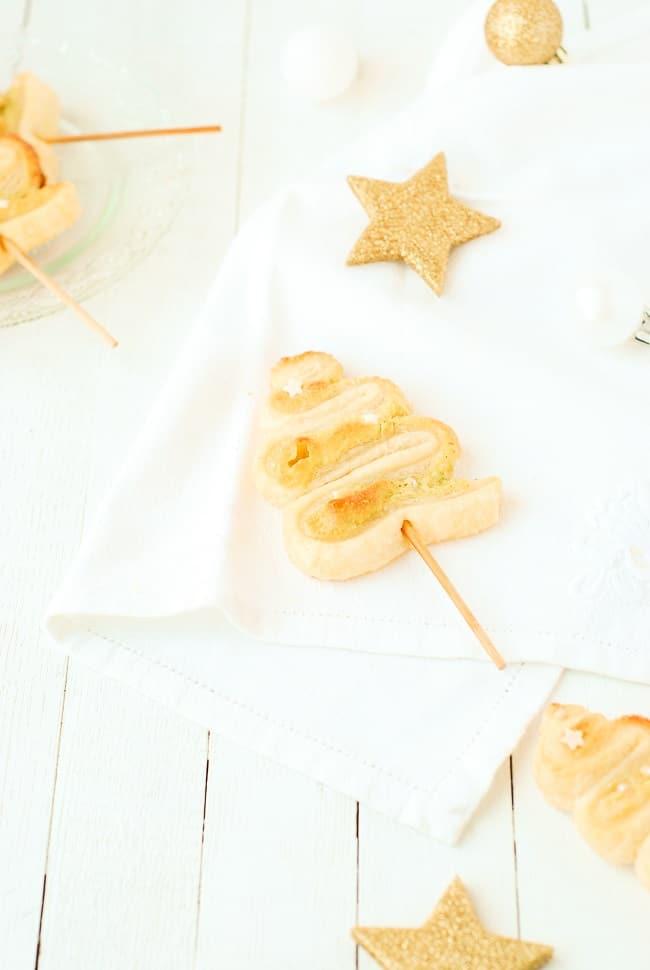 Sapins feuilletés à la pistache