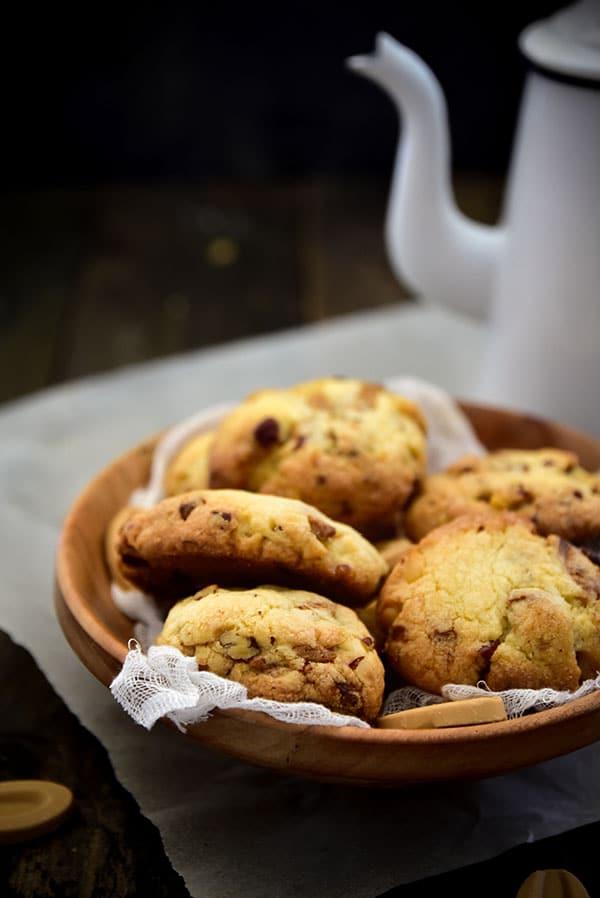 La recette de #cookies de Pierre Marcolini croustillant et moelleux à la fois -- Confit Banane