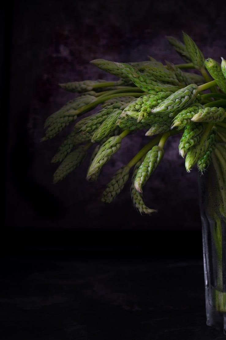 photographie stylisme culinaire asperges -- confit banane