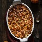 Une recette automne avec ce gratin de butternut, chataigne & noisette - par Confit Banane