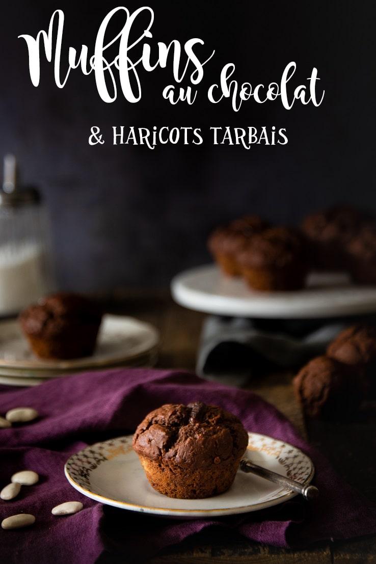 Recette de muffins aux haricots blancs tarbais au chocolat sans beurre