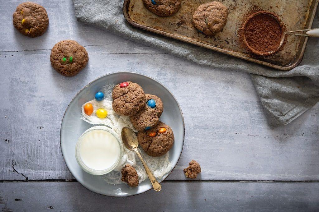 Des cookies moelleux et sans repos aux M&m's & chocolat -