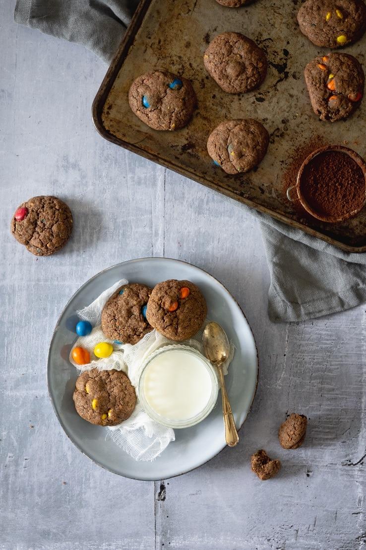 Des cookies moelleux au 2 M&m's & chocolat -