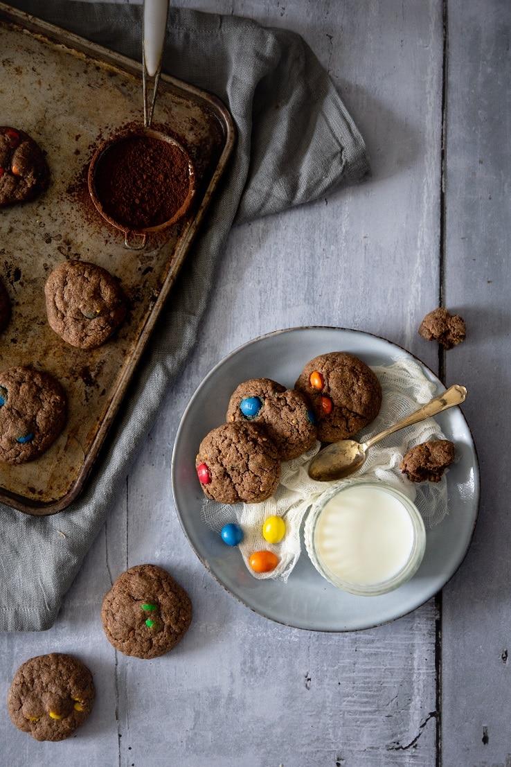 Des cookies au 2 M&m's & chocolat -