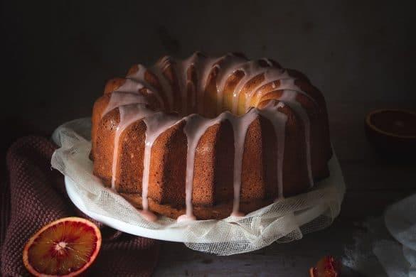 recette de cake aux oranges sanguines et huile d'olive