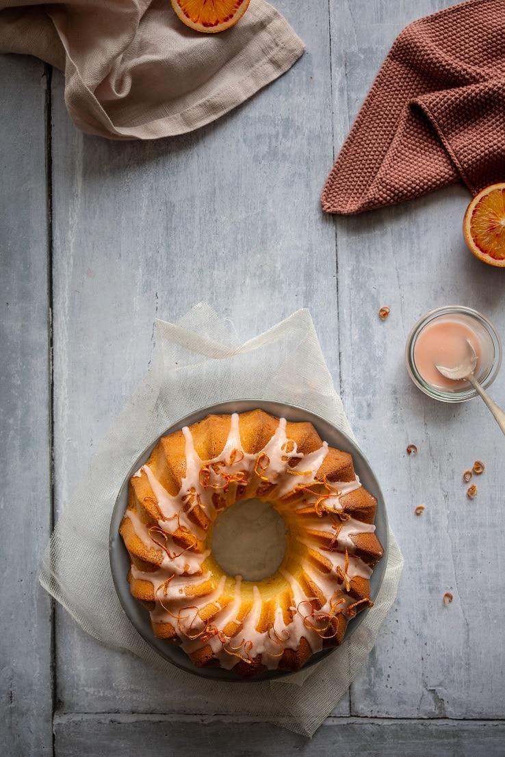 recette de gâteau aux oranges sanguines et huile d'olive glaçage à l'orange