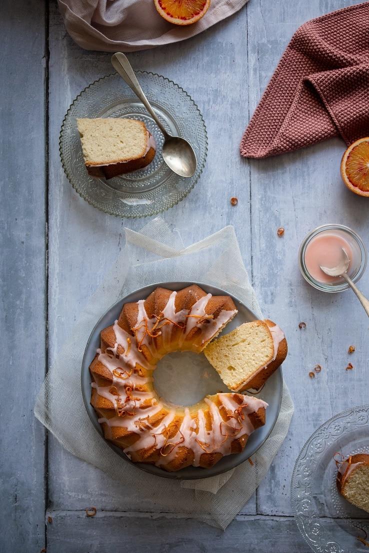 gâteau aux oranges sanguines et huile d'olive