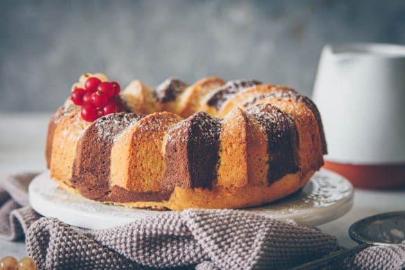 chocolat zebra cake • Confit Banane •