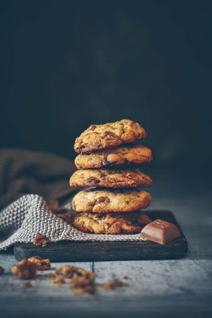 La recette de cookies parfaite aux 3 chocolats et aux noix de pécan -- recette de Confit Banane
