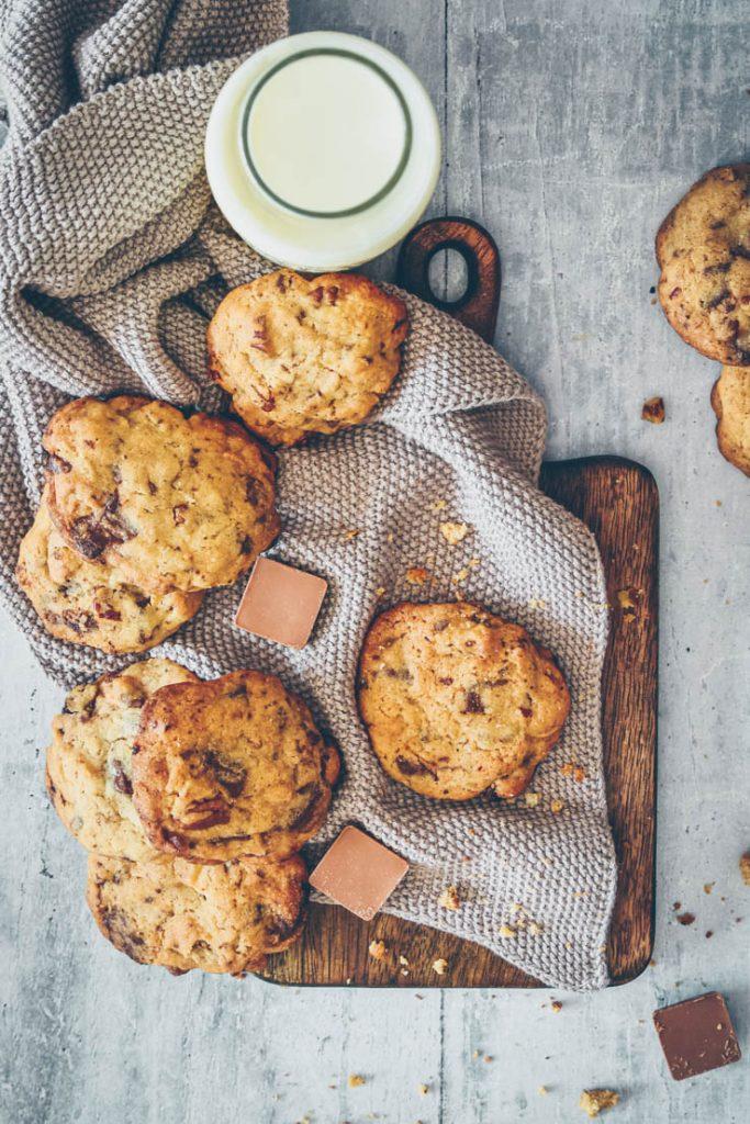 Cookies aux chocolats -- recette de Confit Banane