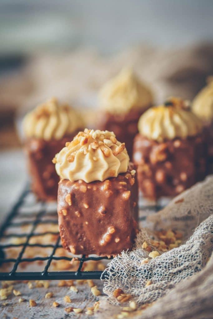 cake au praliné et chocolat dulcey