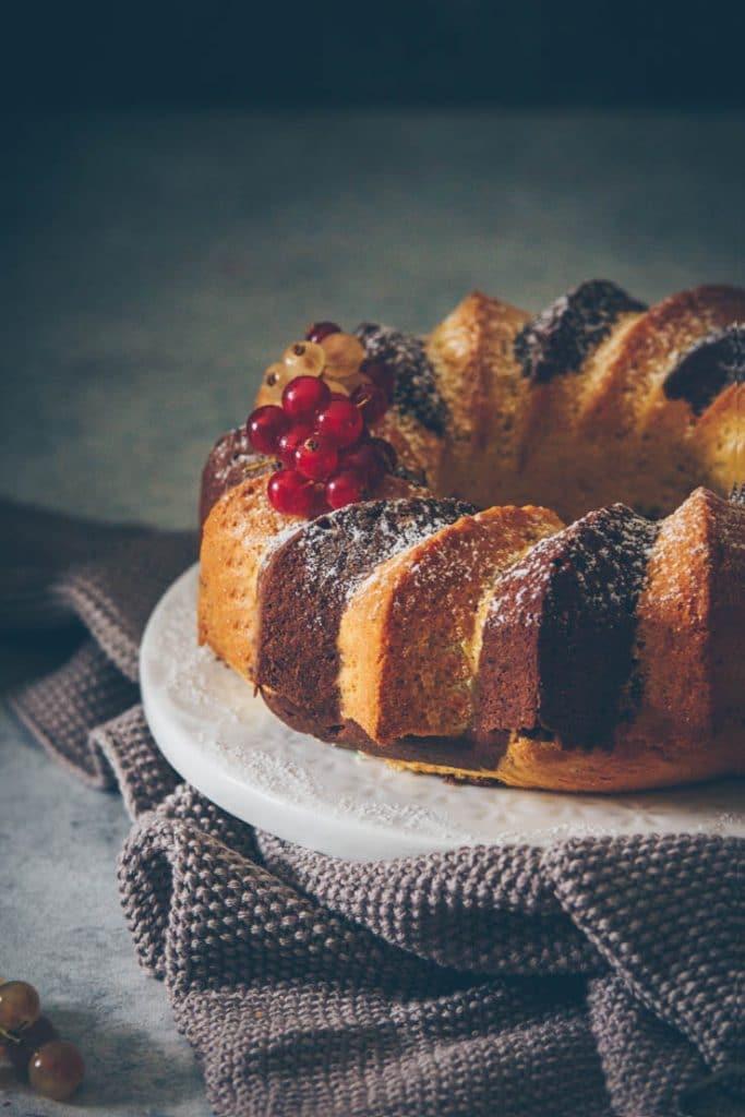 bundt cake marbré au chocolat • Confit Banane •