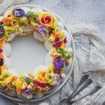 recette de pavlova exotiques en couronne pour Noel - ConfitBanane