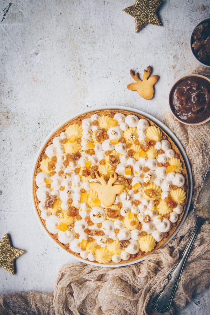 yuzu curd tart & whipped cream chestnut - confitbanane