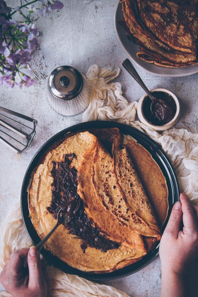 crêpes à la farine de petit epeautre - confitbanane