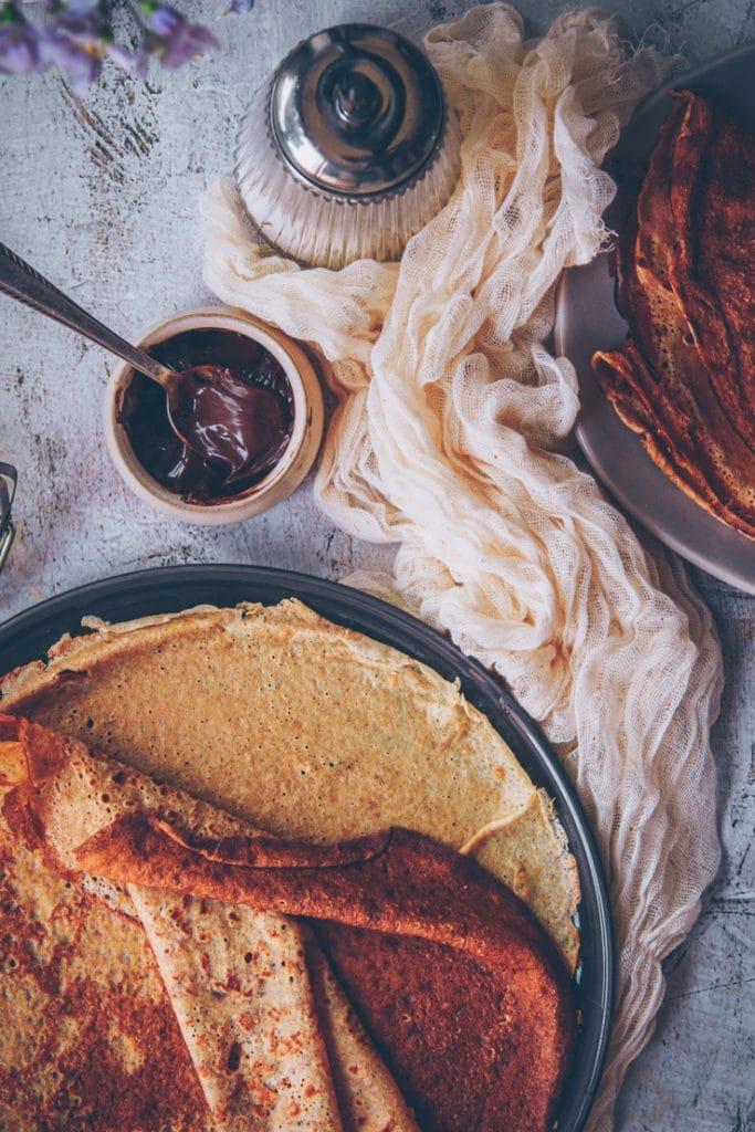 recette de crêpes légères et savoureuses à la farine de petit épeautre - par confitbanane